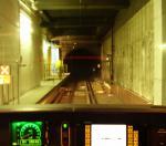 V kabině strojvedoucího metra