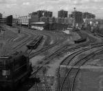 Lokomotiva T466 0286 na žižkovském nádraží